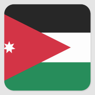 Pegatina Cuadrada Bandera nacional del mundo de Jordania