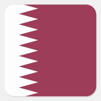 Pegatina Cuadrada Bandera nacional del mundo de Qatar