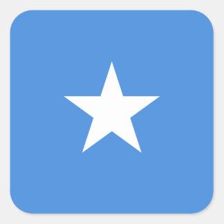 Pegatina Cuadrada Bandera nacional del mundo de Somalia