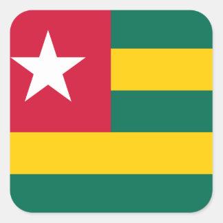Pegatina Cuadrada Bandera nacional del mundo de Togo