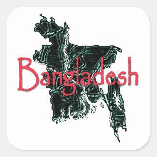 Pegatina Cuadrada Bangladesh
