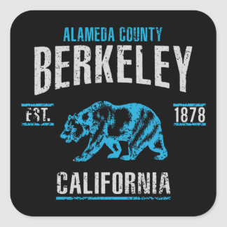Pegatina Cuadrada Berkeley