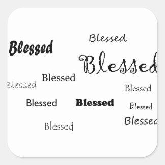 Pegatina Cuadrada Blessed11