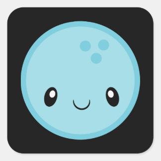 Pegatina Cuadrada Bola de bolos Emoji