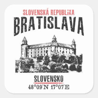Pegatina Cuadrada Bratislava