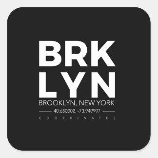 Pegatina Cuadrada Brooklyn