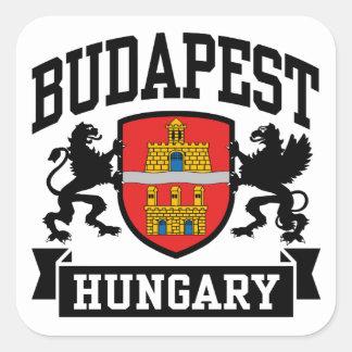 Pegatina Cuadrada Budapest Hungría