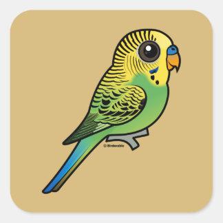 Pegatina Cuadrada Budgerigar de Birdorable