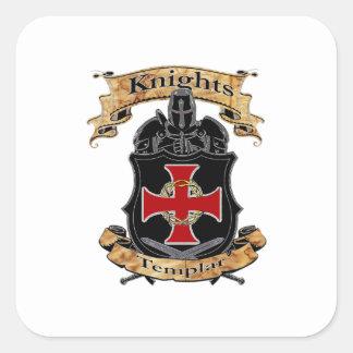 Pegatina Cuadrada Caballeros Templar