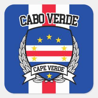 Pegatina Cuadrada Cabo Verde