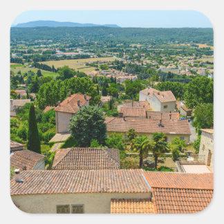 Pegatina Cuadrada Campo francés en la fotografía de Provence