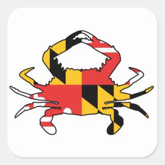 Pegatina Cuadrada Cangrejo de Maryland