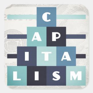 Pegatina Cuadrada Capitalismo