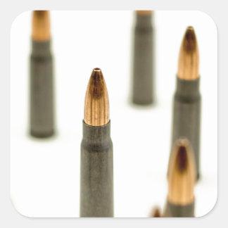 Pegatina Cuadrada Cartucho 7.62x39 de AK47 de la bala de la munición