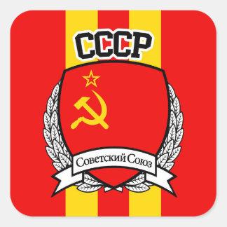 PEGATINA CUADRADA CCCP