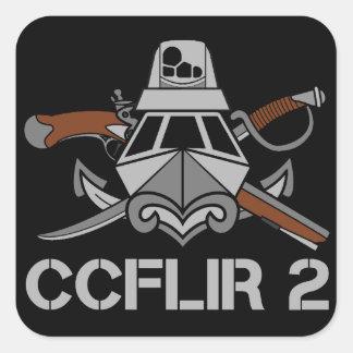 """Pegatina Cuadrada CCFLIR 2 Zap (pegatina), 3"""" X 3"""", hoja de 6"""
