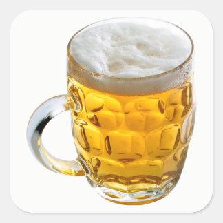 Pegatina Cuadrada Cerveza