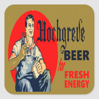 Pegatina Cuadrada Cerveza de Hochgreve