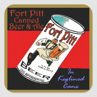 Pegatina Cuadrada Cerveza de Pitt del fuerte