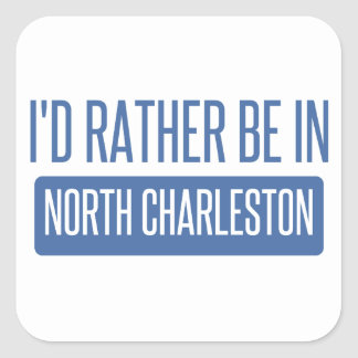 Pegatina Cuadrada Charleston del norte