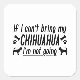 Pegatina Cuadrada Chihuahua
