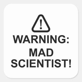 Pegatina Cuadrada Científico enojado amonestador