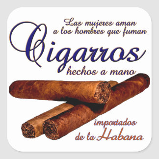 Pegatina Cuadrada Cigarros - Cirars