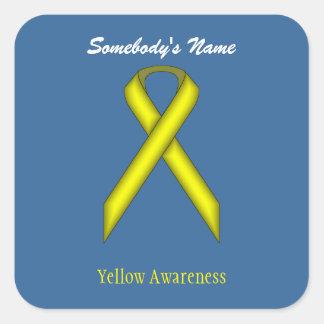 Pegatina Cuadrada Cinta estándar amarilla