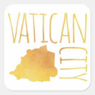 Pegatina Cuadrada Ciudad del Vaticano