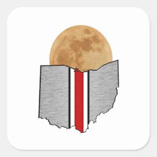 Pegatina Cuadrada Claro de luna de Ohio