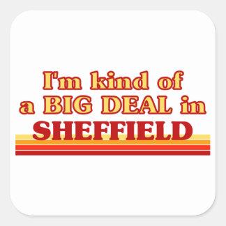 Pegatina Cuadrada Clase de I´m de una gran cosa en Sheffield