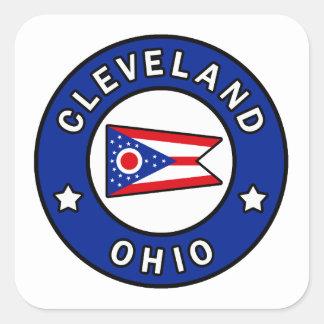 Pegatina Cuadrada Cleveland Ohio