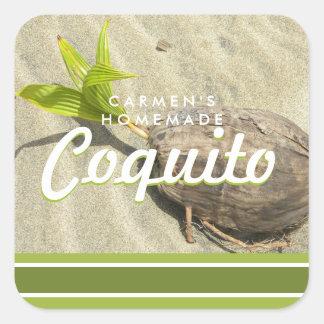 Pegatina Cuadrada Coco del Coquito