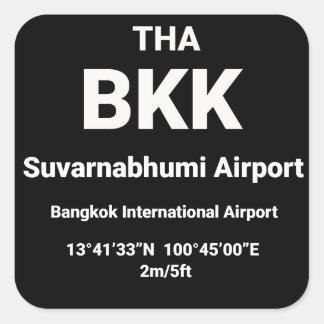 Pegatina Cuadrada Código del aeropuerto más enfermo - BKK Bangkok