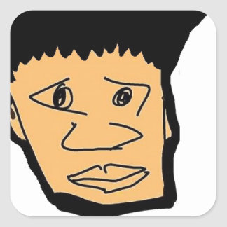 Pegatina Cuadrada colección filipina de la cara del dibujo animado