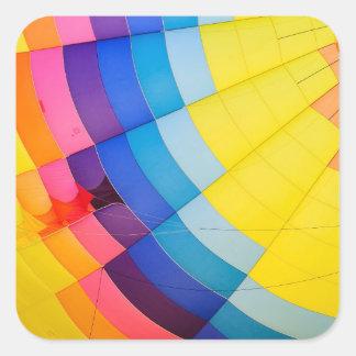 Pegatina Cuadrada Colorido abstracto