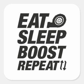 Pegatina Cuadrada Coma la repetición del alza del sueño