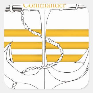 Pegatina Cuadrada comandante del oro, fernandes tony