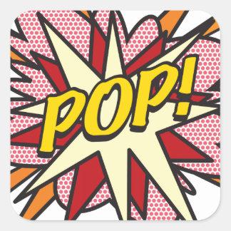 Pegatina Cuadrada ¡Cómic POP!