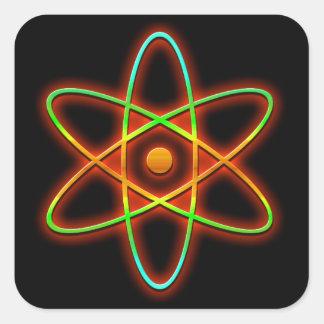 Pegatina Cuadrada Concepto atómico