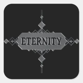 Pegatina Cuadrada Concepto de la eternidad