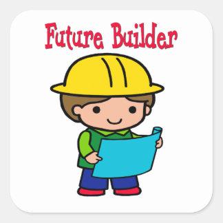 Pegatina Cuadrada Constructor futuro