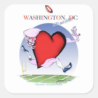 Pegatina Cuadrada Corazón principal del Washington DC, fernandes