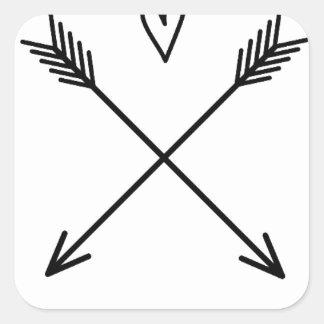 Pegatina Cuadrada Corazones y flechas
