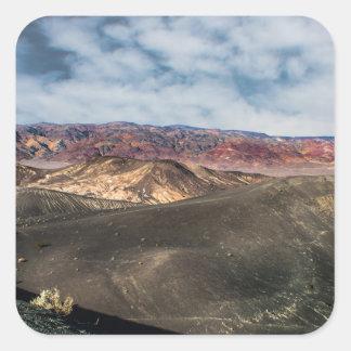 Pegatina Cuadrada Cráter Death Valley de Ubehebe