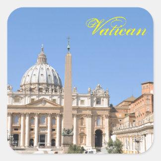 Pegatina Cuadrada Cuadrado de San Pedro en Vatican, Roma, Italia