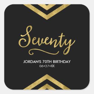 Pegatina Cuadrada Cumpleaños geométrico moderno elegante de Chevron