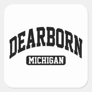 Pegatina Cuadrada Dearborn Michigan