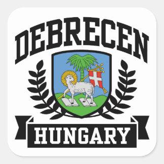 Pegatina Cuadrada Debrecen Hungría