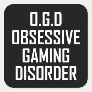 Pegatina Cuadrada Desorden obsesivo del juego